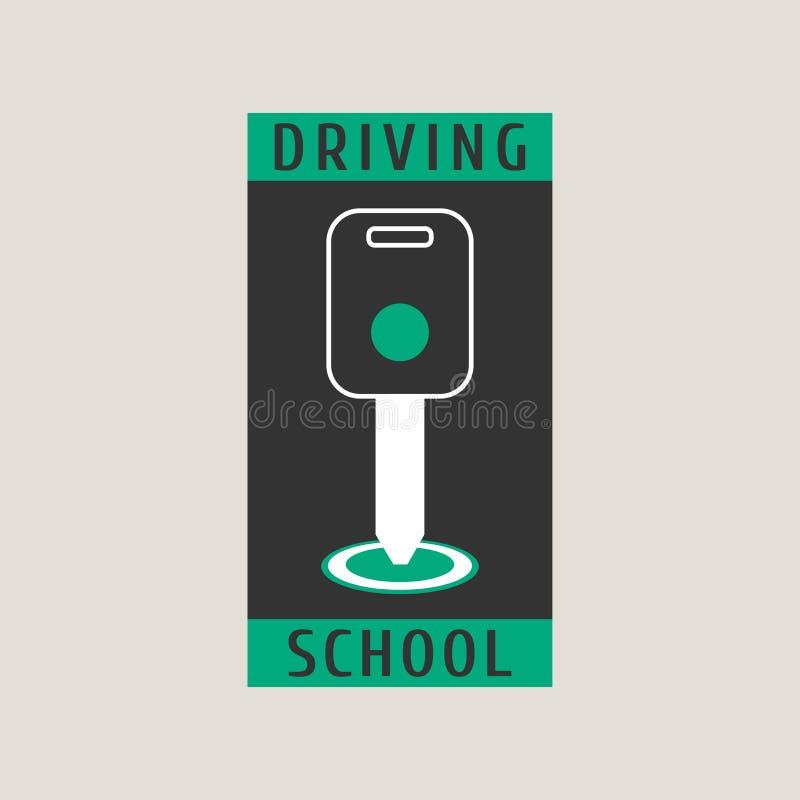 驾驶学校导航商标,标志,标志,象征 库存例证