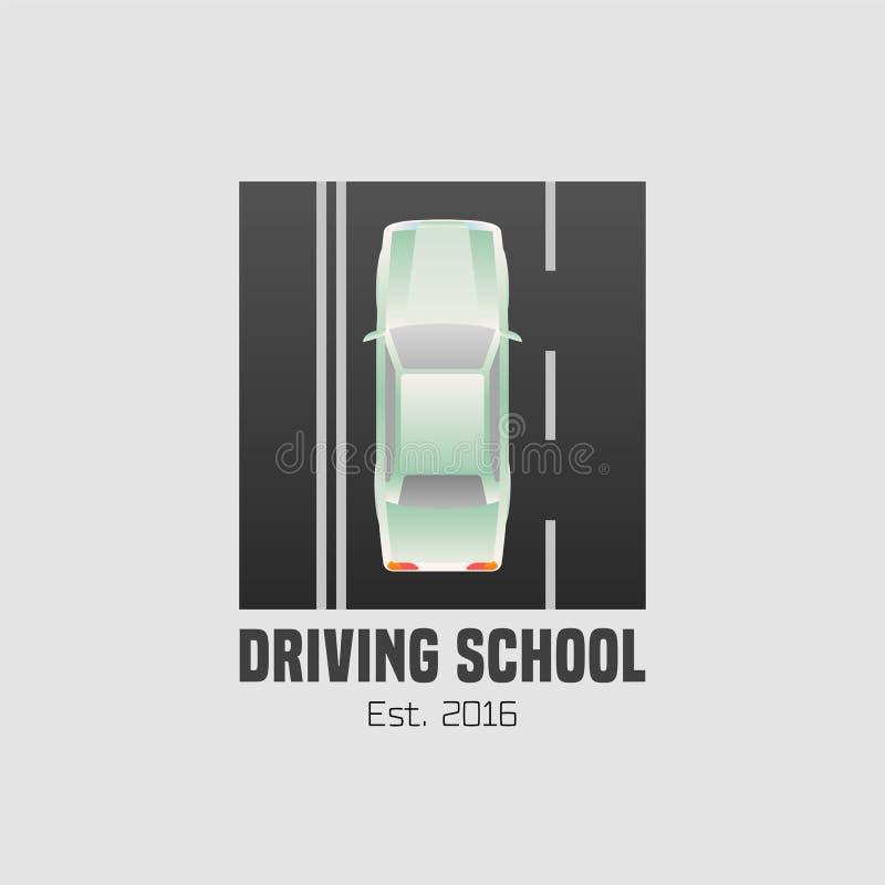 驾驶学校导航商标,标志,标志,象征 向量例证