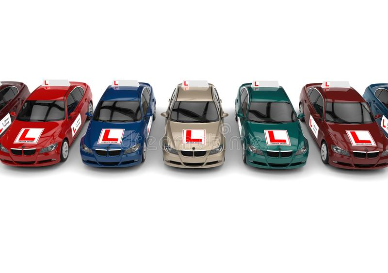 驾驶学校概念 库存例证