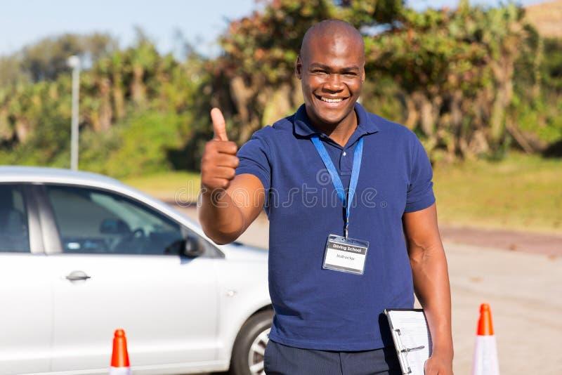 驾驶学校辅导员 免版税库存照片