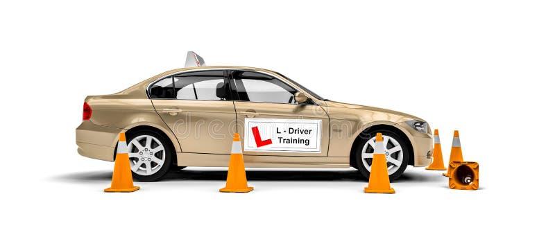 驾驶学校 向量例证