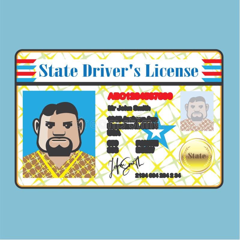 驾驶执照人 库存例证