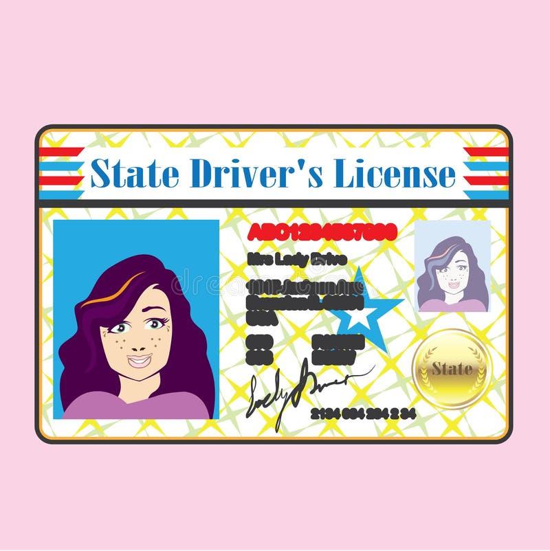 驾驶执照妇女 皇族释放例证