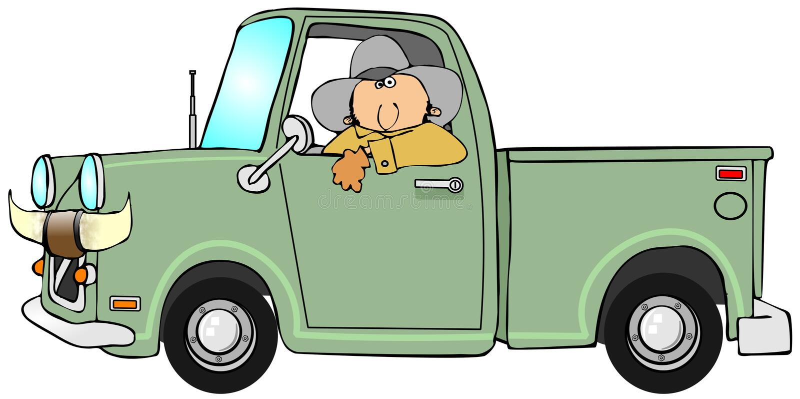 驾驶提取的牛仔 皇族释放例证