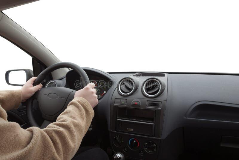 驾驶汽车的人 免版税库存图片