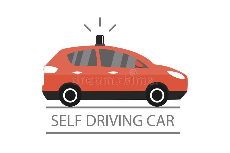 驾驶汽车,动画片未来运输概念的自已 库存例证