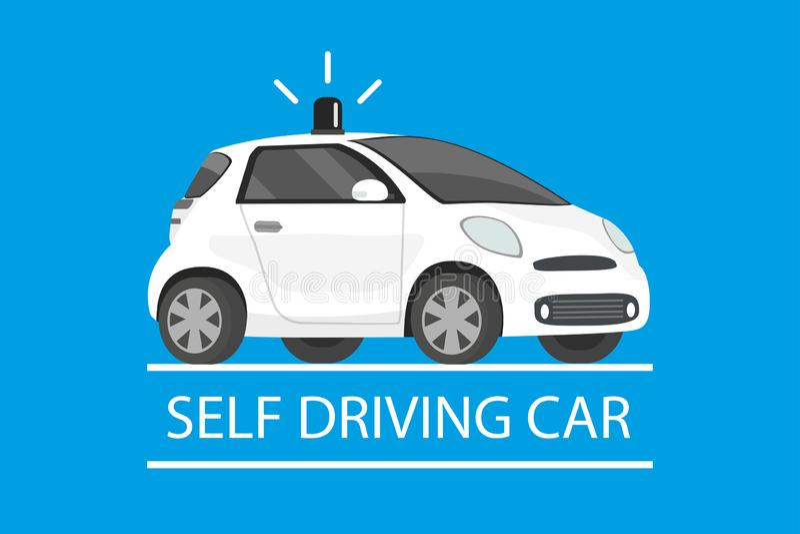 驾驶汽车,动画片未来运输概念的自已 皇族释放例证