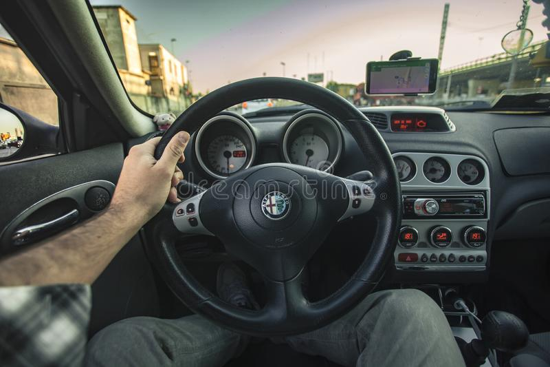驾驶汽车 免版税图库摄影