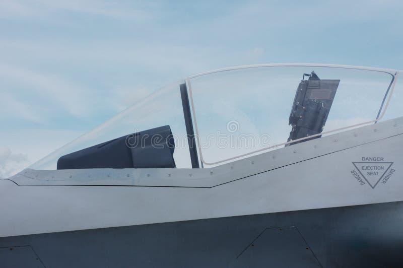 驾驶舱喷气式歼击机 库存照片