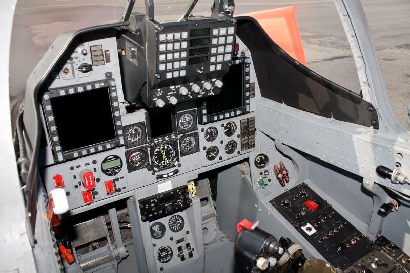 驾驶舱战斗机 库存图片