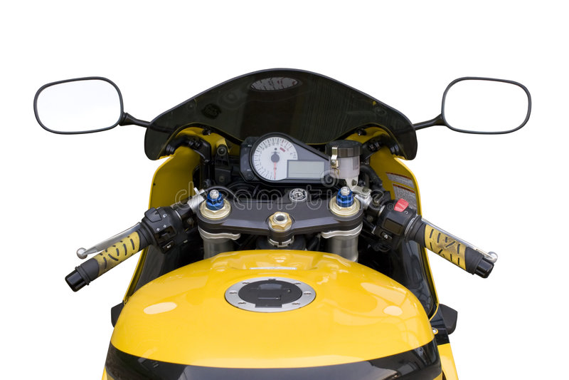 驾驶舱摩托车 免版税库存照片