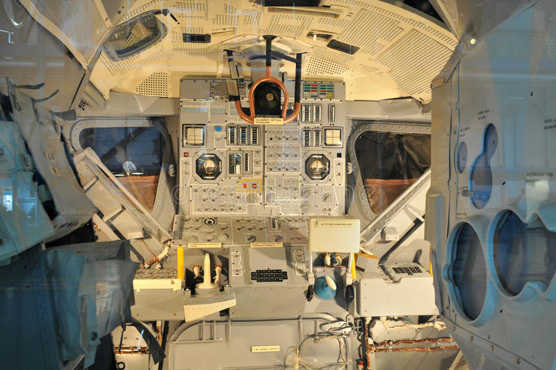 驾驶舱美国航空航天局s航天飞机空间 库存图片