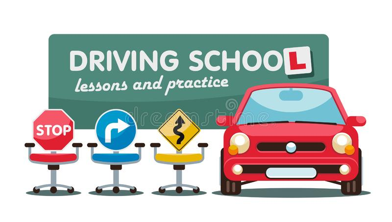 驾驶课在驾校Autoclass 皇族释放例证