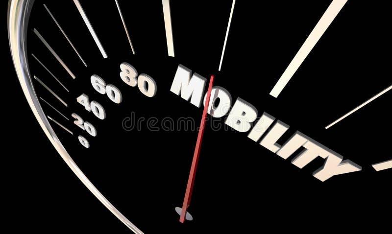 驾驶3d Illust的流动性车速表针新的运输 向量例证