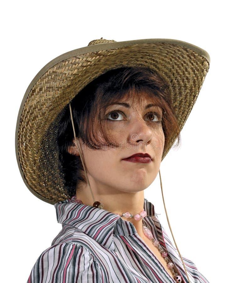 骄傲牛仔的女孩 免版税库存图片