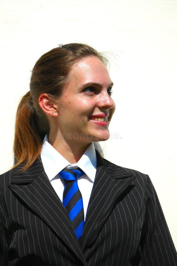 骄傲的微笑的学员 免版税库存照片