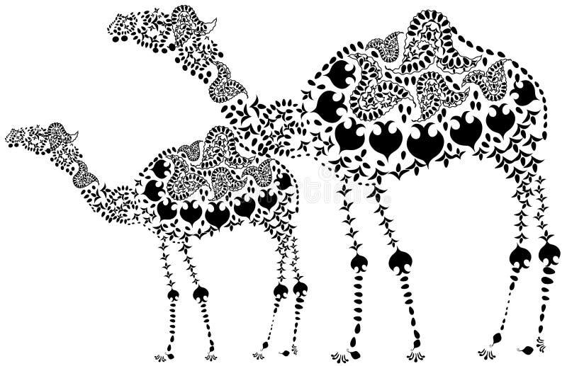 骆驼仿造了 库存例证