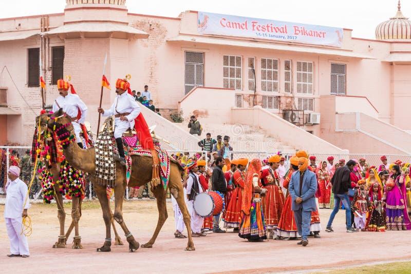 骆驼公平的队伍 免版税库存图片