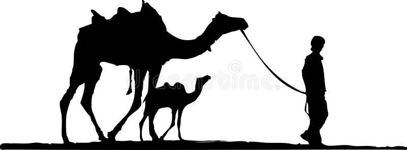 骆驼沙漠母亲 皇族释放例证