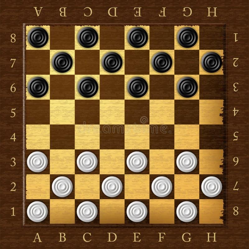 验查员 染黑董事会企业检查棋结尾的游戏高亮度显示损失伙伴黑白照片采取白色在方法成功的隐喻 库存例证