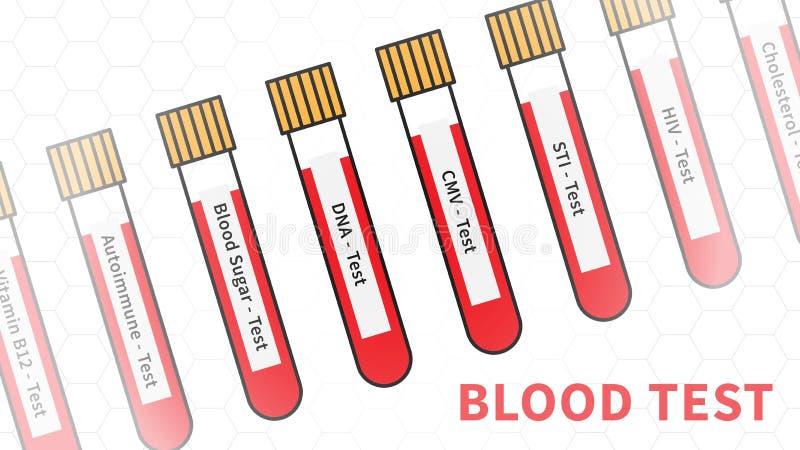 验血抽样传染媒介例证 向量例证