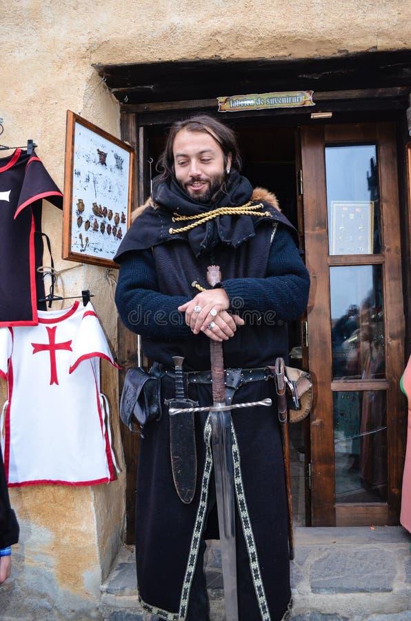骑士中世纪纵向 图库摄影