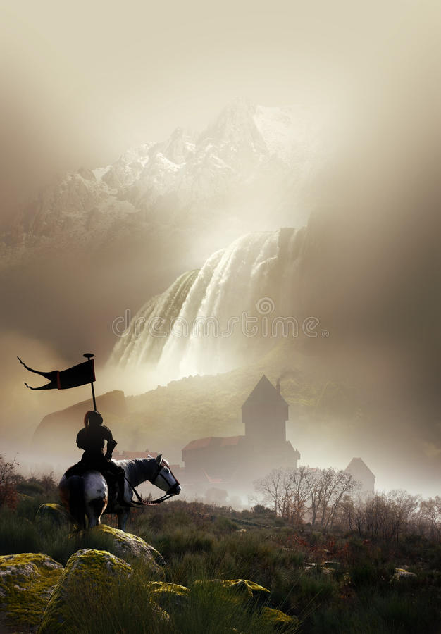 骑士和城堡 皇族释放例证