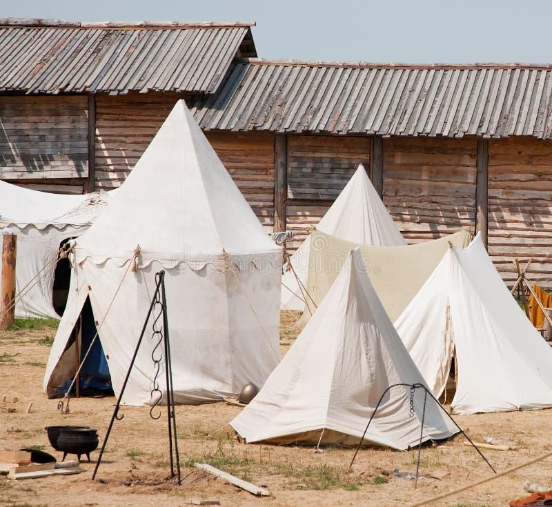 骑士帐篷 库存照片