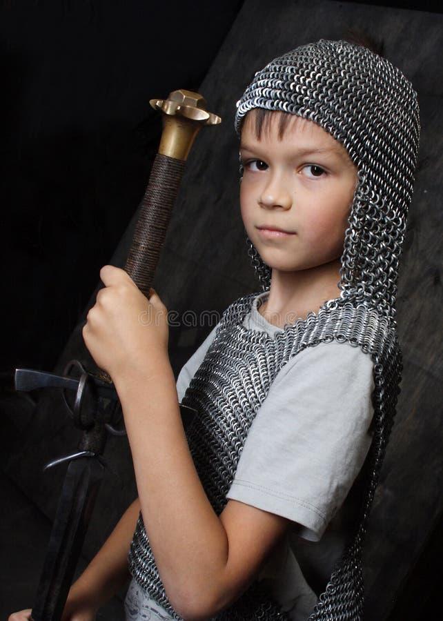骑士年轻人 库存图片