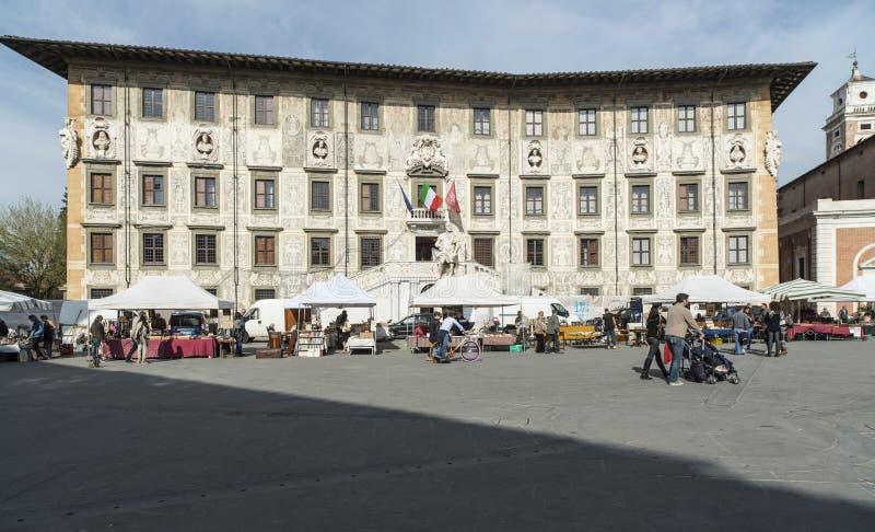 骑士比萨托斯卡纳意大利欧洲的正方形 库存图片