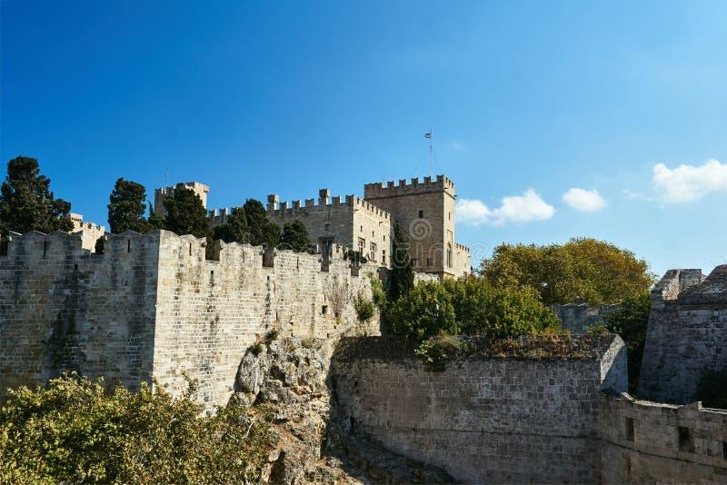 骑士的中世纪城堡城堡的设防 免版税库存图片