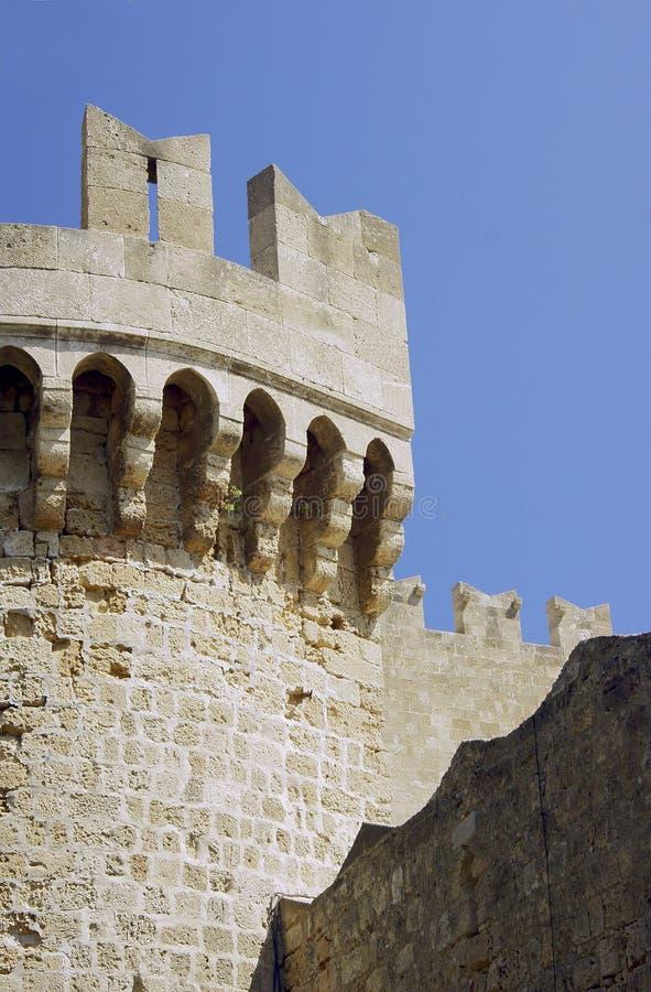 骑士的中世纪城堡的本营 库存图片