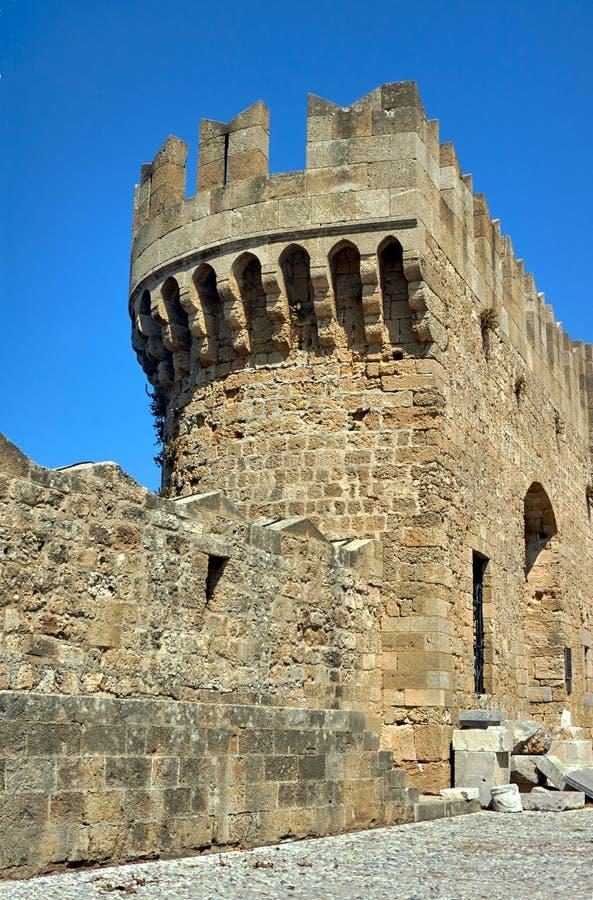 骑士的中世纪城堡的本营 免版税图库摄影