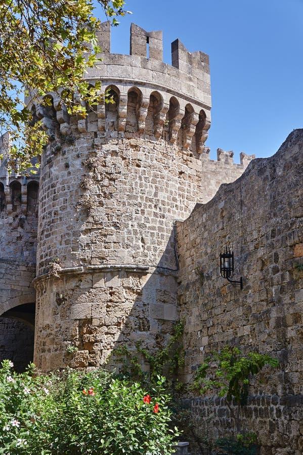 骑士的中世纪城堡的本营 图库摄影
