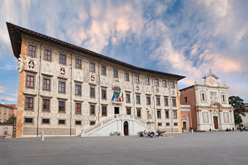 骑士的正方形,比萨,意大利 图库摄影