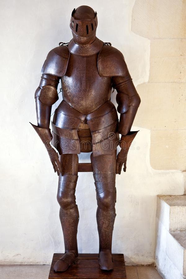 骑士的铁装甲 免版税库存照片