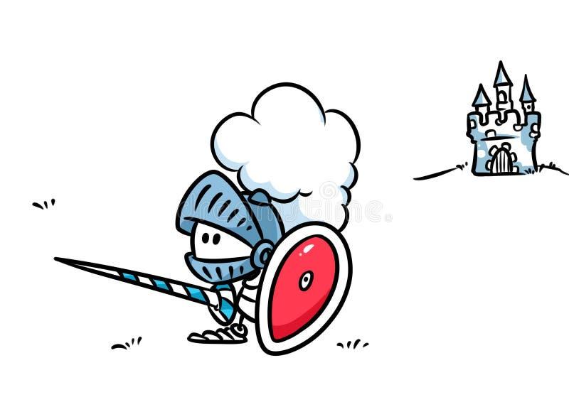 骑士装甲动画片 向量例证