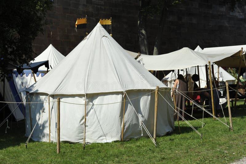 骑士阵营,中世纪节日,纽伦堡2013年 库存照片