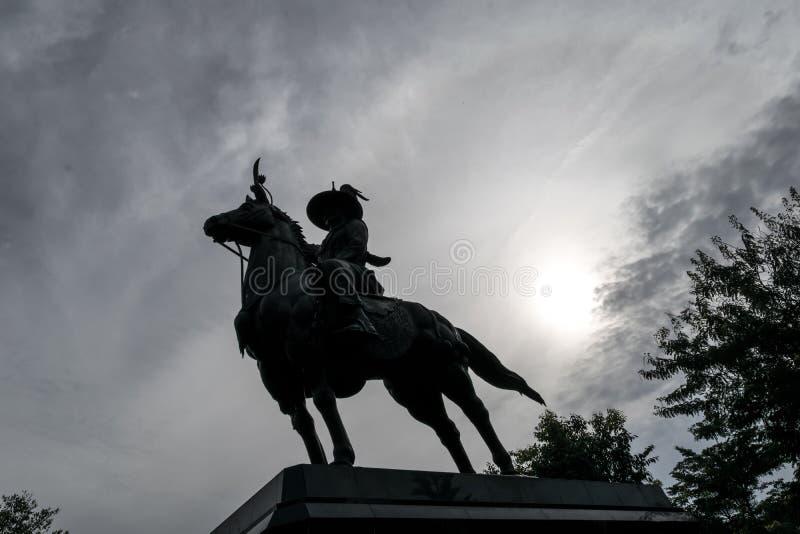 骑士雕象 免版税库存图片