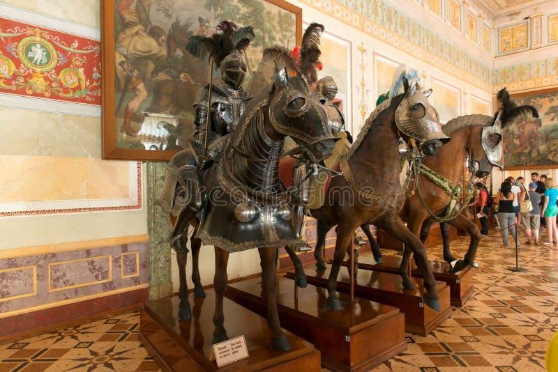 骑士`大厅 免版税库存照片
