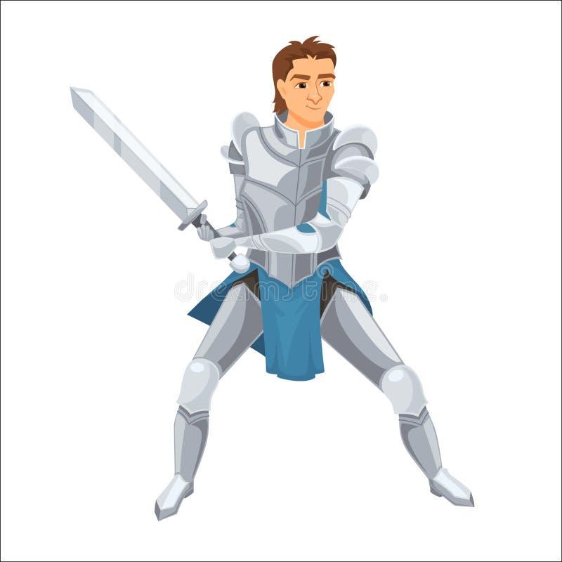 骑士 有装甲的战士 库存例证