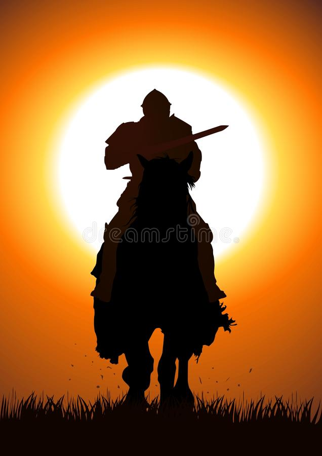 骑士 向量例证