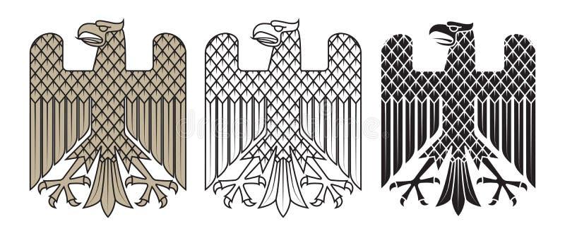 骑士` s纹章学象征 德国纹章学老鹰 库存例证