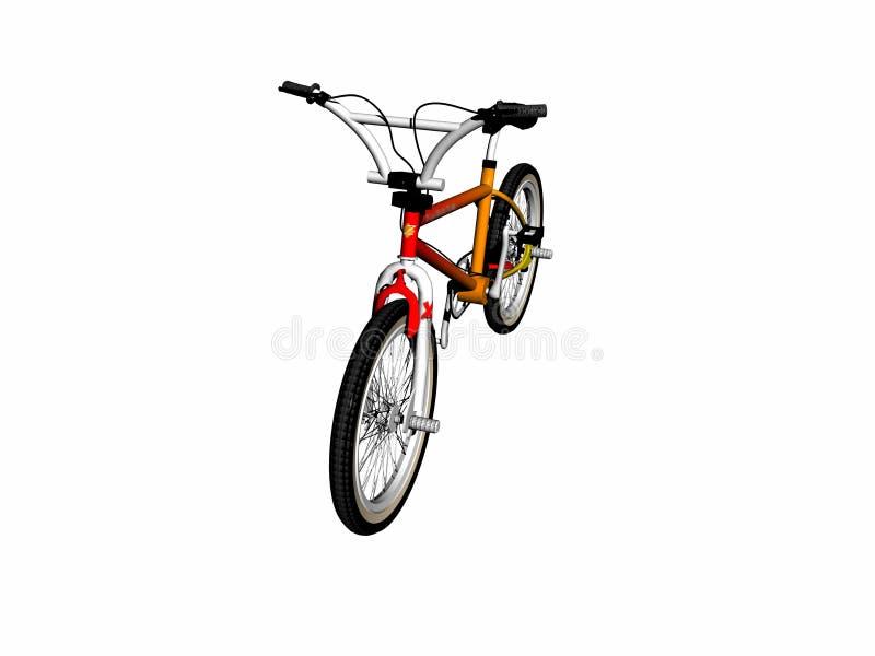 骑自行车在白色的mbx 免版税库存图片