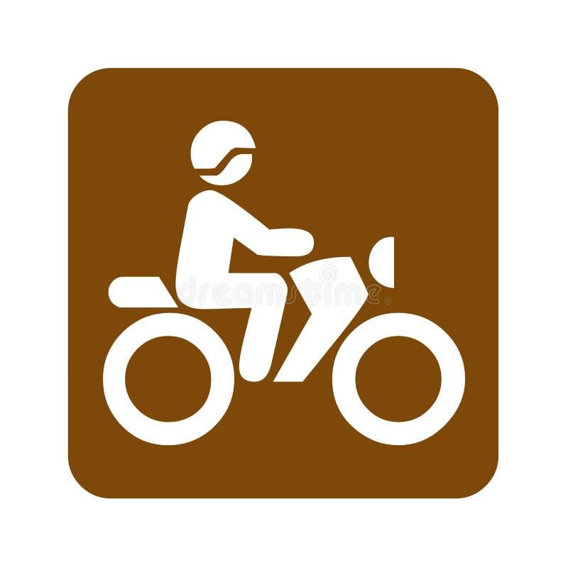 骑自行车消遣标志的布朗土 皇族释放例证