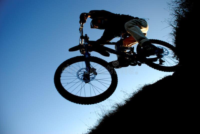 骑自行车的人山 图库摄影