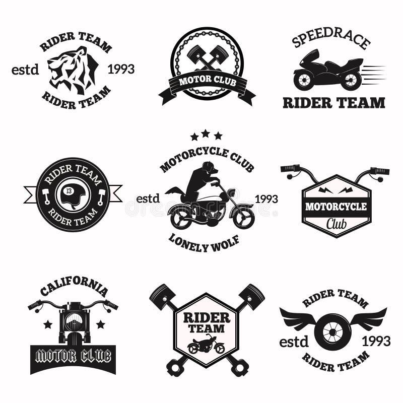 骑自行车的人徽章象征传染媒介象 库存例证