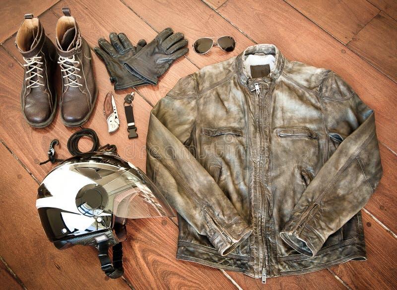 骑自行车的人材料-摩托车齿轮 免版税库存图片