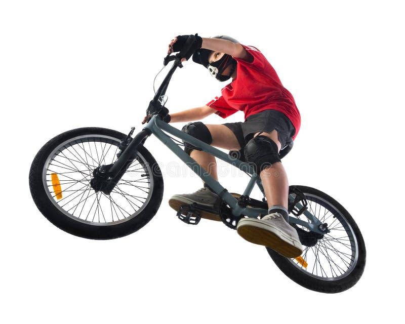 骑自行车的人bmx 免版税库存图片