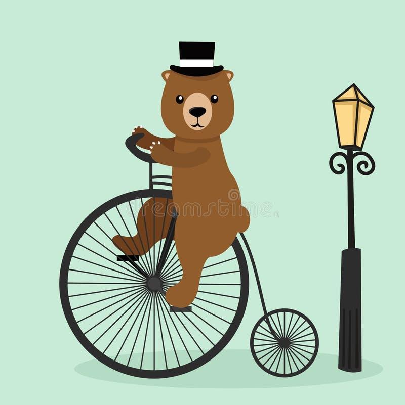 骑自行车的熊 皇族释放例证